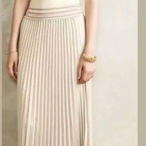 Anthropologie L HD Paris MICA Pleated Maxi Skirt